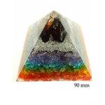 7 Chakra Orgonite Pyramid 90mm